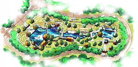中国风景园林网讯 中国国际园林博览会是目前我国国内规模最大、规格最高、内容最丰富的风景园林行业综合性盛会,每两年举办一届。城市展园肩负着宣传城市特色、提高城市知名度的重任,因此是历届博览会的重点内容。在这届盛会上,济南展园像一朵奇葩征服了众多参观者。  鸟瞰图  平面图