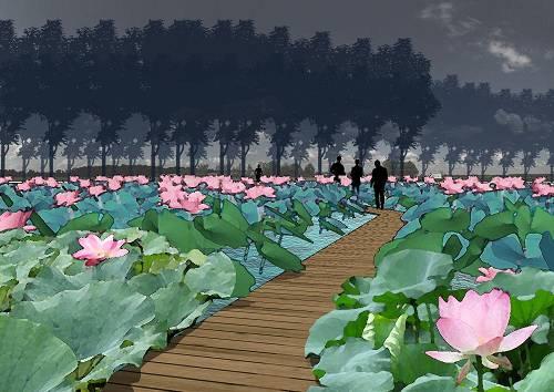 滦河迁西县城段景观工程设计欣赏图片